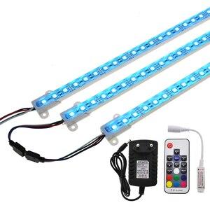 Image 1 - Barra de luz LED RGB de 5050, 50cm, IP68, SMD36LED, tira rígida de LED para piscina, cc 12V, con adaptador de corriente de interruptor