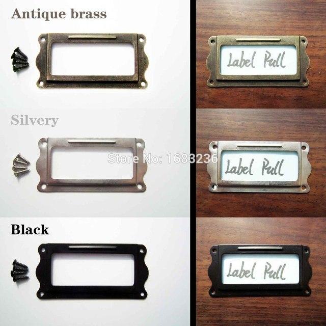 Kast Metalen Frame.12 Pcs Decoratieve Meubels Kast Lade Box Case Iron Metalen Tag Label