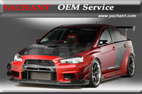 Car Styling Portion Carbon Fiber Glass FRP Body Kit Fit For 08 12 Lancer Evolution X Evo 10 VS Wide Body Version Style Body Kit