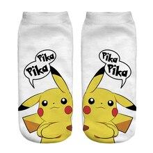 3D носки в стиле харакдзюку Мужские Женские носки модные популярные Покемон нейтральные низкие носки с принтом