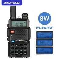 "baofeng uv Baofeng UV-5R 8W מכשיר הקשר מיני נייד 10 ק""מ ארוך טווח שני הדרך רדיו VHF UHF Dual Band כף יד FM משדר CB רדיו (1)"