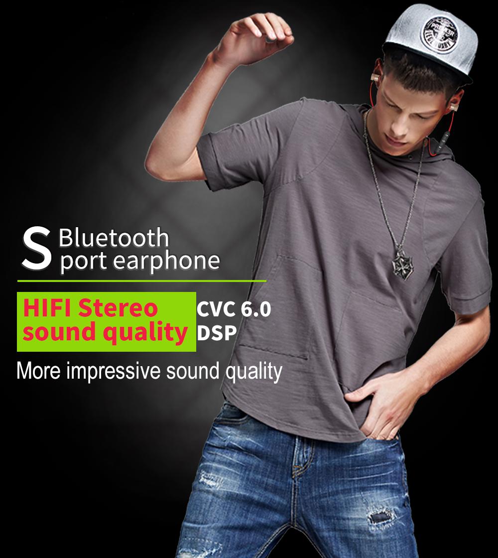 YODELI V4.1 Bluetooth Headset Metal Magnetic Wireless Stereo Earphone Headphones with Mic Sports Earphone Earbud for Sweatproof (10)