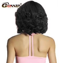 Gossip Bob Lace Front Human Hair Wigs Brazilian Remy Hair Curly Short Bob Wigs For Black