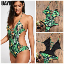 цены Sexy bandage High Cut One Piece Swimsuit Women Swimwear Push Up Monokini Brazilian Thong Bathing Suit Solid Padded Swimming Suit