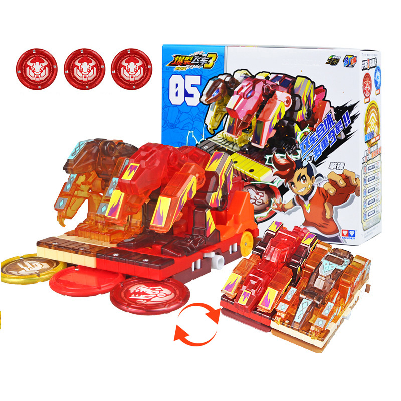 New Season AULDEY Burst Speed Deformation Car Action Figures Multi-car Splice Capture Wafer 360 Burst Transformation Car Toys