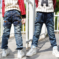 Детская одежда 2017 плюс бархат утолщение детские брюки мальчики брюки карман на молнии Дети джинсы