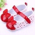 Infantil niñas niños pu cuero shose bebé toddler suaves del bowknot prewalker los zapatos del pesebre 0-12 m