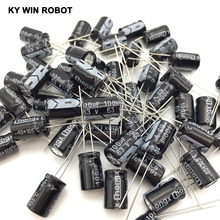 Ücretsiz kargo 50 adet Alüminyum elektrolitik kondansatör 100 uF 63 V 8*12 elektrolitik kondansatör