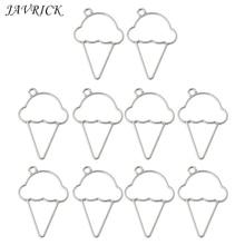 10Pcs Ice Cream Cone Resin Frame Pendant Open Bezel Setting Jewelry Making
