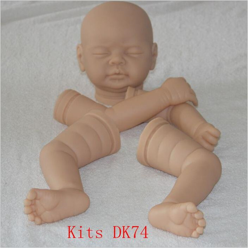 Reborn Doll Kits for 22inches Soft Vinyl Reborn Baby Dolls Accessories for DIY Realistic Toys for DIY Reborn Dolls Kits dk74 good price reborn baby doll kits for 17 baby doll made by soft vinyl real touch 3 4 limbs unpainted blank doll diy reborn doll