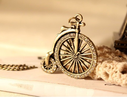 N193 Hot!! New Design Fashion Bike Necklace Vintage Jewelry Wholesale