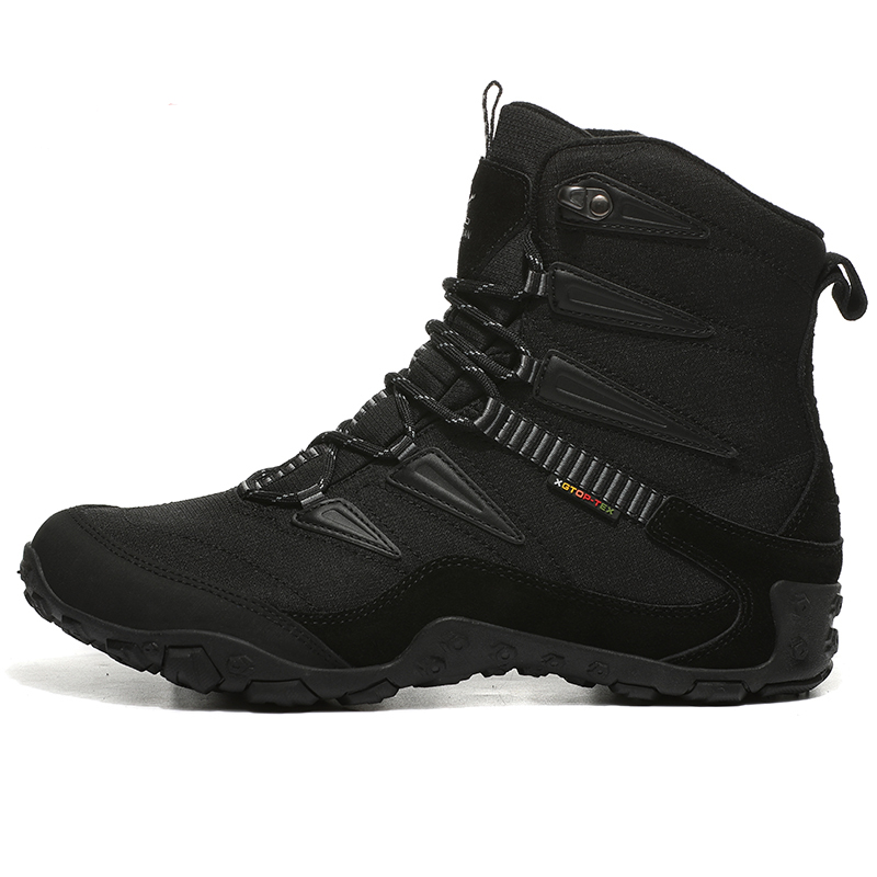 Top Quality Men's Winter Outdoor Hiking Trekking Boots Shoes Sneakers For Men Leather Climbing Mountain Hunting Boots Shoes Man kerzer outdoor shoes men autumn winter hiking boots slip on trekking shoes leather mountain climbing sneakers