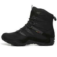 Top Quality Mens Winter Outdoor Hiking Trekking Boots Shoes Sneakers For Men Leather Climbing Mountain Hunting Man