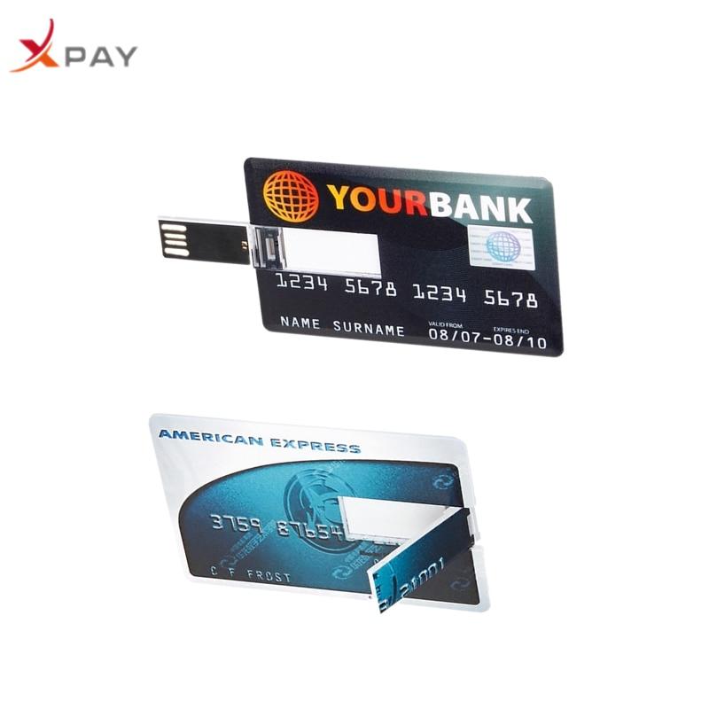 Usb flash drive 8GB 16GB 32GB Super thin bank card USB Flash 128GB flash stick 2.0 Pen drive 64GB pendrive 4GB Free Custom Logo-in USB Flash Drives from Computer & Office