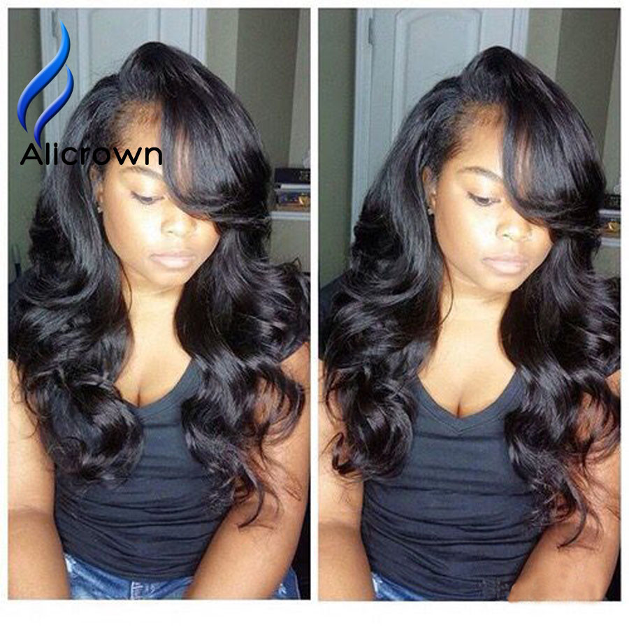 Wavy Brazilian Glueless Full Lace Wigs Human Hair Body Wave Lace Front Wig Loose Wave Lace Frontal Wig With Baby Hairs Alicrown