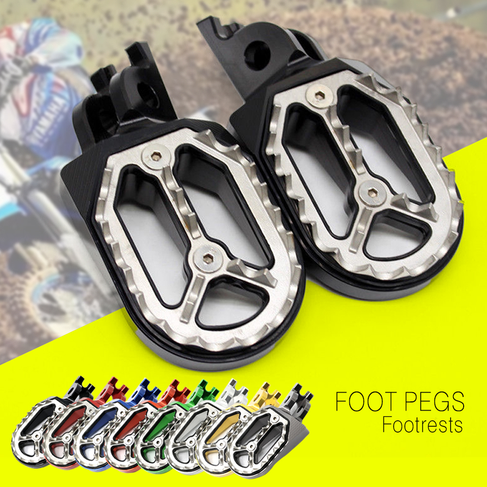 CNC Foot Pegs For Honda CR125 CR250 CRF150R CRF450R CRF450X CFR250X Motorcycle Racing Motocross Off-road Rests Footpeg Footrests