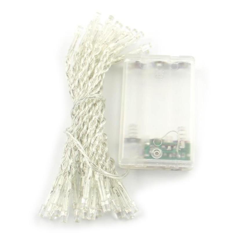 Pocket Battery White 3M 30 Led String Fairy Party Festival Decor Light Lamp Bulb Lights