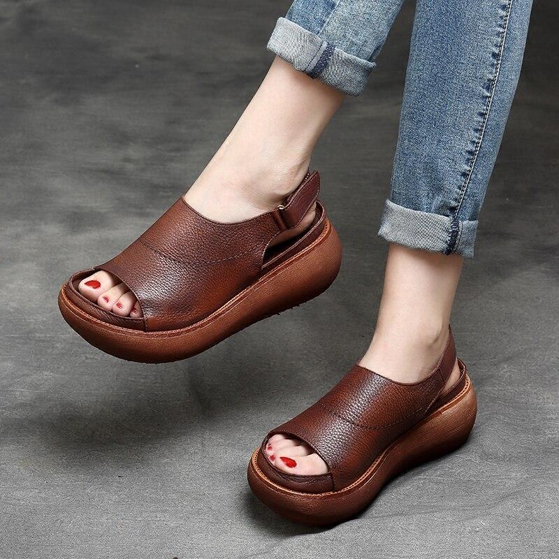 Tyawkiho ของแท้หนังผู้หญิงรองเท้าแตะสีดำ 6 ซม. รองเท้าส้นสูงรองเท้าฤดูร้อน 2018 สุภาพสตรีรองเท้าแตะหนังนุ่ม Handmade รองเท้าบน-ใน รองเท้าส้นสูง จาก รองเท้า บน   2