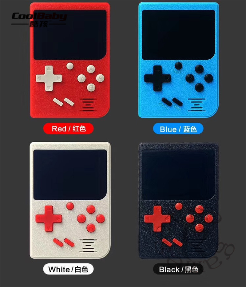 Retro Portable Mini Handheld Game Console 8-Bit 2.4 Inch Color LCD Kids Color Game Player Built-in 129 games