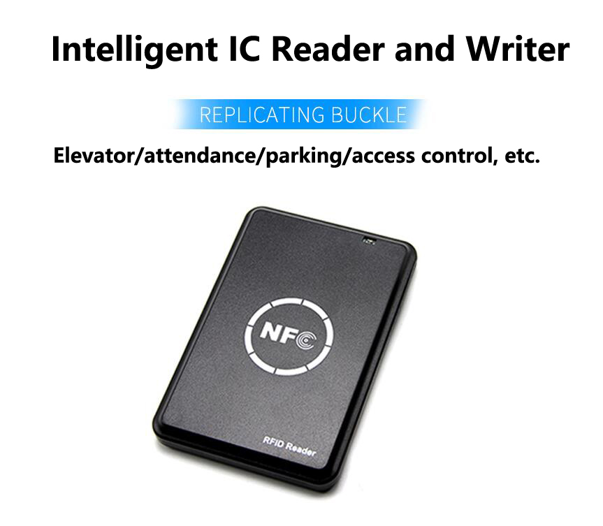Image 2 - LUCKING DOOR 13.56MHz M1 Card Reader Writer rfid Copier Duplicator NFC RFID Smart Card Reader Writer-in Control Card Readers from Security & Protection