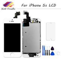Hot Truth1PCS Free Shipping Grade AAA For IPhone 5s LCD With Touch Screen Home Button Front