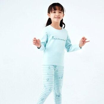 4649fd2e15493 Product Offer. Термобелье для девочек хлопковая одежда для сна с рисунком  Детская домашняя одежда нижнее белье ...