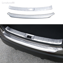 Stainless Steel Exterior Interior Rearguards Rear bumper Trunk Trim Bumper Pedal For Nissan Qashqai j11 2017 2018 Car Accessorie