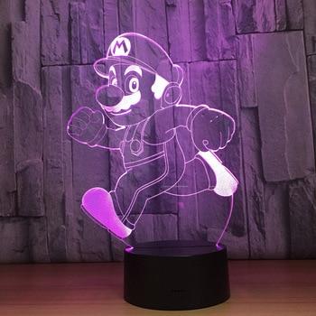 Lampe de nuit 3D Enfants Super Mario Bros