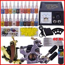 YLT-79 комплект Татуировки полное оборудование татуировки инструмент 2 машины перманентный макияж машина наконечник иглы питания установить