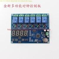 O envio gratuito de tempo módulo de controle do relé módulo de tempo de Multiplex XH-M194 5 caminho painel de controle do relé do tempo