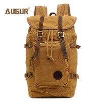 AUGUR Men Backpacks Vintage Canvas Leather Men S Backpack Larger Capacity Travel Bags For Men Male