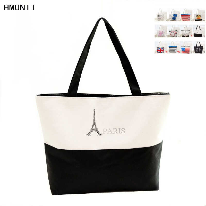 2017 fashion Handbag Canvas Woman Shopping Bag Women Cheap Hand Bags Beach Bag Canvas Tote Bags Shoulder Sac a Main hmunii striped casual tote women canvas handbag casual single shoulder shopping bags beach zipper large bag sac a main bolsa