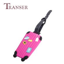 TRANSER śliczne mężczyzna kobiet podróży 1 pc nowy walizka bagaż tagi ID adres uchwyt silikonowy identyfikator etykiety wysokiej jakości Aug17 * tanie tanio Gumowe 8*5cm Green Blue Gray Hot Pink Mint Green