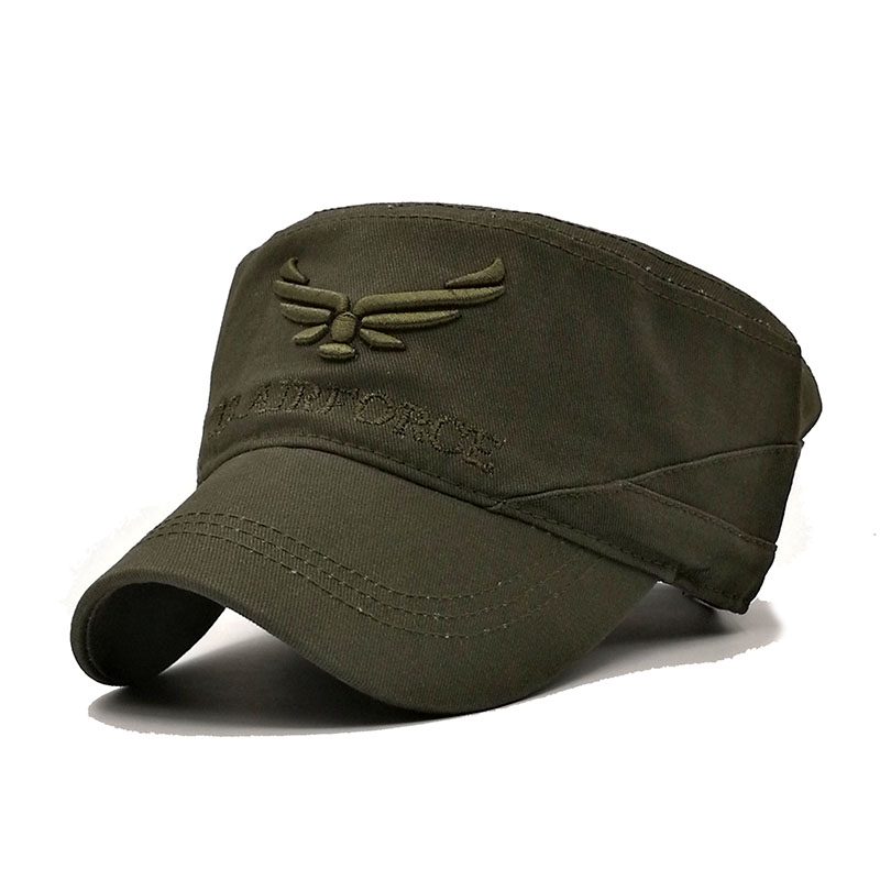 882b160a2 US $7.99 |QUJIHAI Snapback Caps Men AIR FORCE Baseball Caps Cotton Army  Captain Tactical Hats For Men Vintage Flat Roof Bone-in Baseball Caps from  ...