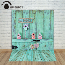 Allenjoy photographic background Wooden wall love nest backdrops princess christmas vinyl Excluding bracket 8 x 8 ft
