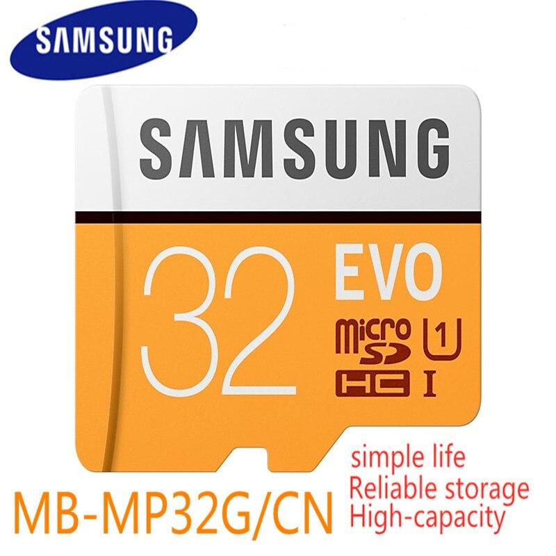 Cartão De Memória Samsung Evo 32 gb 95 mb/s C10 10 Uhs Sdhc Micro Sd Classe Tf Trans Flash Dispositivo De Armazenamento para o Smartphone 2017 Novo Modelo