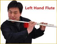 Профессиональный Флейта 16 отверстия C тон левой руки Флейта Посеребренная Мельхиор материал с ключом E Dizi музыкальный инструмент flauta