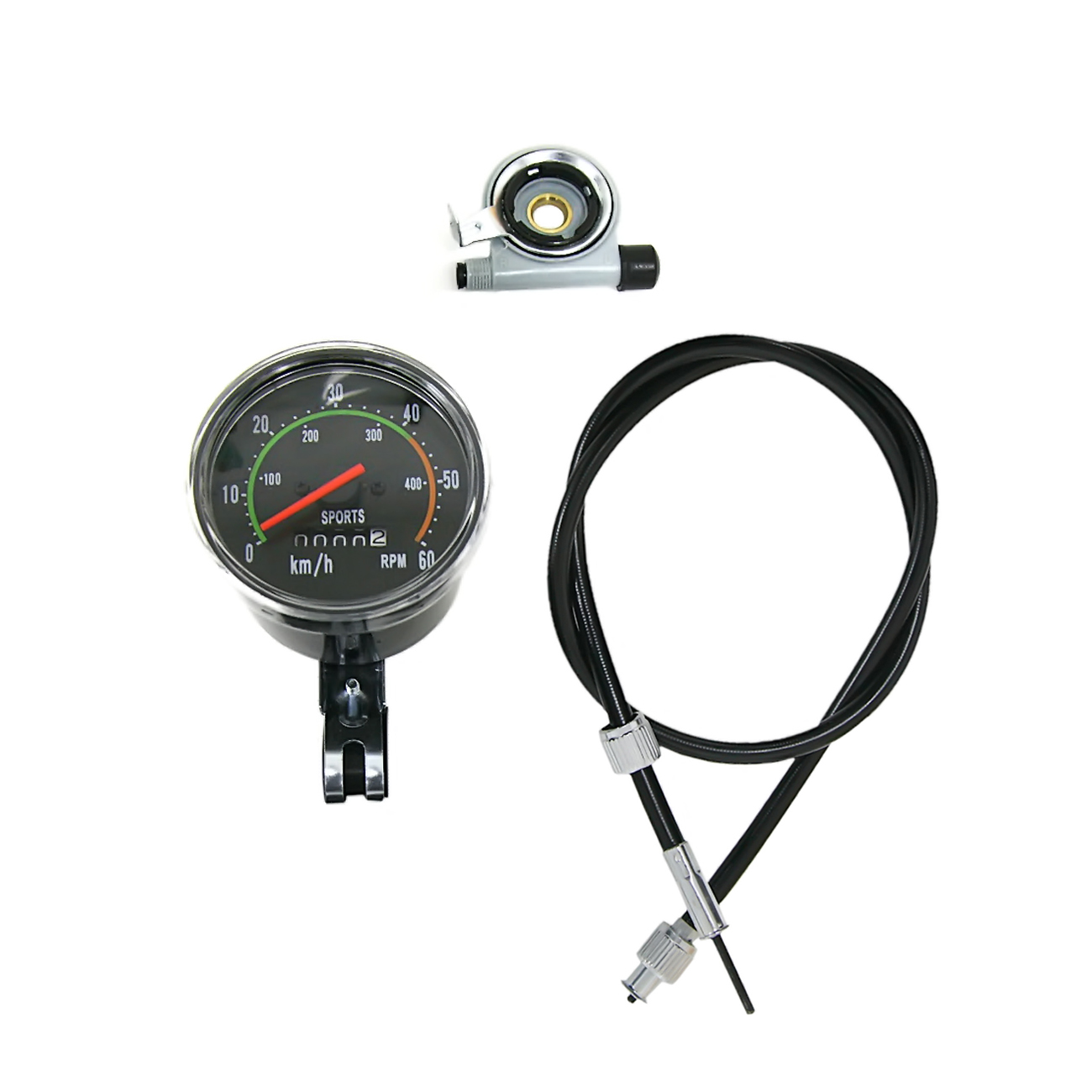 Velocímetro y odómetro con Hardware de montaje para Motor de bicicleta motorizado de 80cc