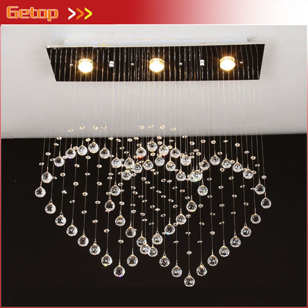 Best Price Heart Shaped Ceiling Lamp Modern Minimalist Double Crystal LED Lights Bedroom Living Room
