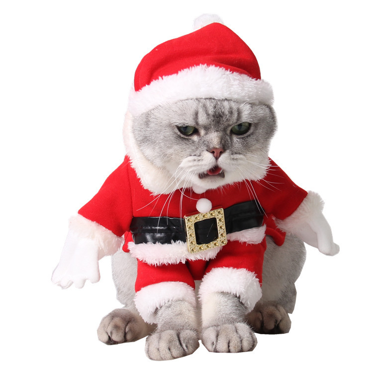 pet christmas costumes dog suit with cap santa claus suit dog hoodies cat xmas costumes in dog hoodies from home garden on aliexpresscom alibaba group