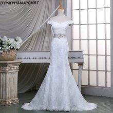 DYYMYH&MJPGHBT Mermaid Lace Wedding Dresses with Crystal
