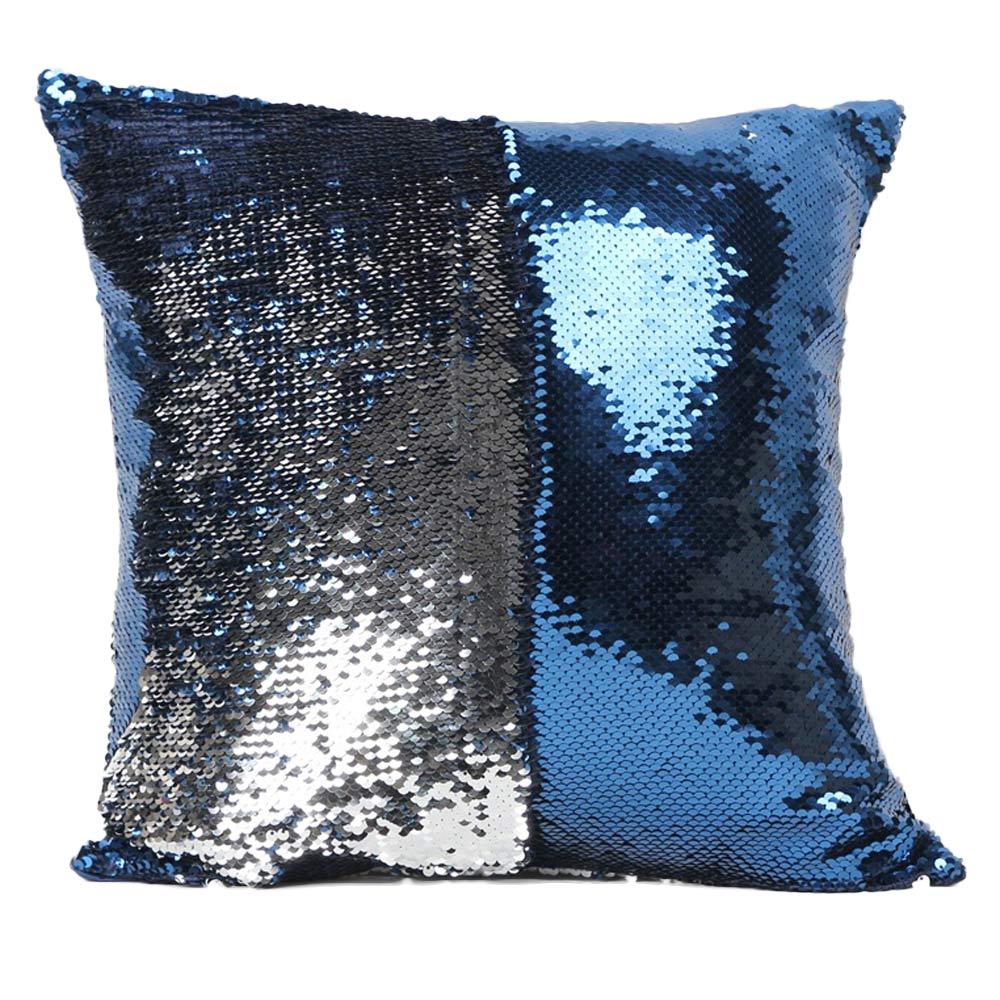2016 fashion diy two tone glitter sequins hi throw pillow decorative cushion case car covers. Black Bedroom Furniture Sets. Home Design Ideas