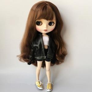 Кожаная куртка + кожаные шорты + Топ без пятки, 1/6, модная одежда для кукол, 30 см, аксессуары для кукол