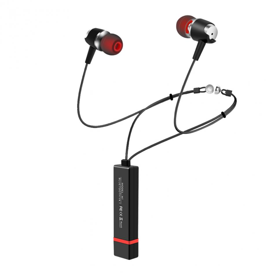 Halter Type Bluetooth Earphone Wireless Stereo Earbuds Sports Headset In-ear Magnetic Blueototh Earbuds