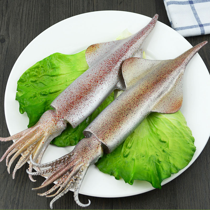 050 Fake squid model food model high fidelity seafood squid mold 29 9 5 2 5cm in Artificial Foods Vegetables from Home Garden