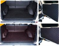 Full set car trunk cargo liner mats & Rear door mat for Toyota Land Cruiser Prado 150 5 seats 2018 2010 boot carpets styling
