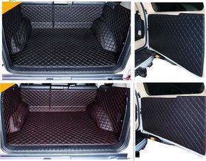 Full set car trunk cargo liner mats & Rear door mat for Toyota Land Cruiser Prado 150 5 seats 2018-2010 boot carpets styling(China)