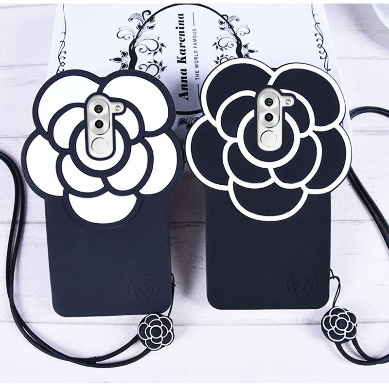 Para huawei honor 6x caso del tirón de lujo del teléfono accesorios cubierta de
