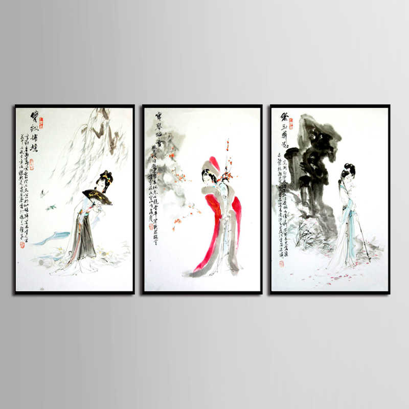 TOP SALE 3 Pieces/set Modern ink series Canvas Painting Sitting Room Decoration Print Canvas Pictures (No Framed)