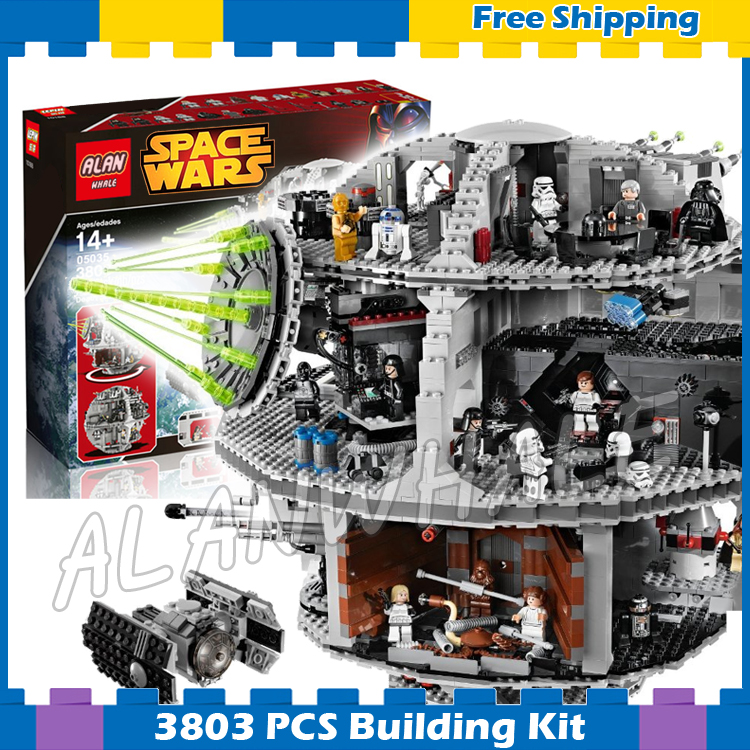3803pcs Space wars Death Star DIY 05035 Model Building Blocks Sets Gifts Bricks Great Scale Teenagers Kids Compatible with Lego kazi 608pcs pirates armada flagship building blocks brinquedos caribbean warship sets the black pearl compatible with bricks